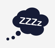 Sleeping icon illustrated. On a white background Royalty Free Stock Images