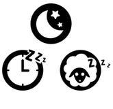Sleeping icon Royalty Free Stock Photography