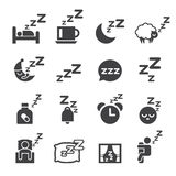 Sleeping icon Stock Photo