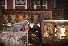 Sleeping indian man Stock Photography