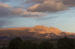 Sleeping indian overlooks the Gros Ventre of the Tetons Royalty Free Stock Photos