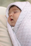 Sleeping infant Stock Images