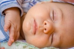 Sleeping Infant Royalty Free Stock Photos