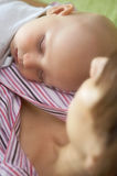 Sleeping infant Royalty Free Stock Image