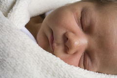 Sleeping infant Royalty Free Stock Images