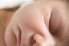 Sleeping infant. An infant in a peaceful sleep Stock Images