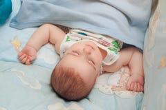 Sleeping infant boy Royalty Free Stock Photos