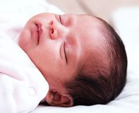 Sleeping Infant Girl Royalty Free Stock Photos