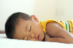 Sleeping Japanese boy Stock Photo
