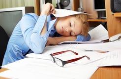 Sleeping on the Job Royalty Free Stock Image