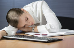Sleeping on the Job Royalty Free Stock Photos