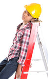 Sleeping On A Job Royalty Free Stock Images