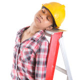 Sleeping On A Job III Royalty Free Stock Photo
