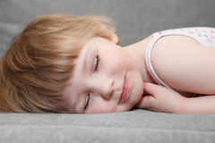 Sleeping kid stock photos