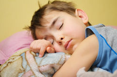 Sleeping kid Stock Images