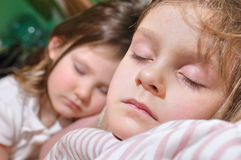 Sleeping kids Royalty Free Stock Photo