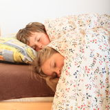 Sleeping kids Royalty Free Stock Photos
