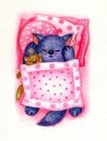 Sleeping kitten. Royalty Free Stock Image