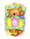 Sleeping kitten. Stock Photography