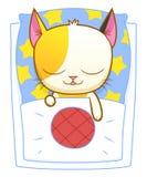 Sleeping kitten Stock Photography