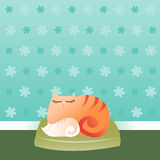 Sleeping Kitty Royalty Free Stock Images