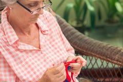Sleeping knitting Stock Images