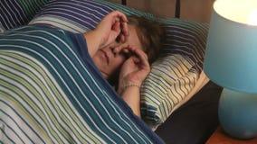 Sleeping Lamp On stock footage