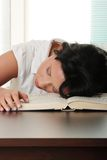 Sleeping while learning Stock Photography