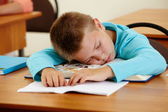 Sleeping at lesson Royalty Free Stock Images