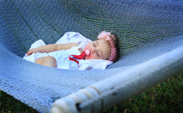 Sleeping like a baby Stock Image