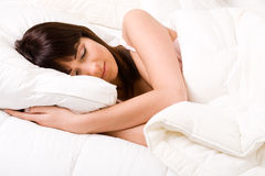 Sleeping like a princess Royalty Free Stock Photography