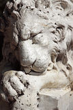 Sleeping lion sculpture Stock Image