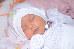 Sleeping little child Royalty Free Stock Photos