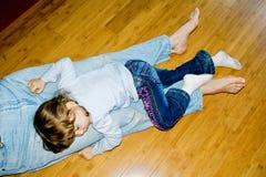 Sleeping little girl Stock Image