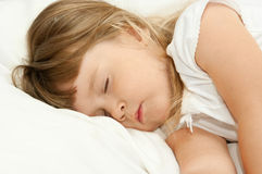 Sleeping little girl Royalty Free Stock Photography