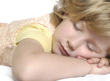 Sleeping little girl. Royalty Free Stock Photos