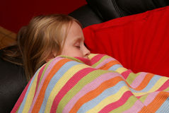 Sleeping little girl Royalty Free Stock Photo