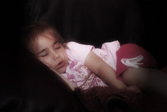 Sleeping little girl royalty free stock photo