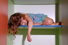 Sleeping little girl Royalty Free Stock Photos