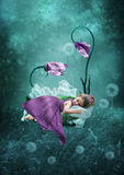 The Sleeping little girl Royalty Free Stock Photos