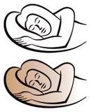 Sleeping Logo. A logo icon of a woman sleeping Royalty Free Stock Photo