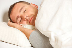 Sleeping man Royalty Free Stock Photos