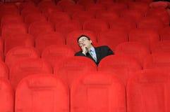 The sleeping man stock photos