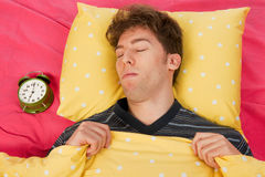Sleeping Man Stock Images