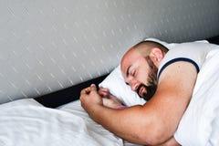 Sleeping man royalty free stock image