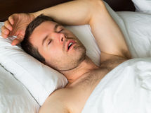 Sleeping man Royalty Free Stock Photo