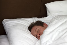 Sleeping man Stock Photo