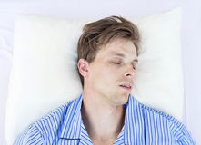 Sleeping man Royalty Free Stock Images