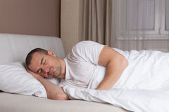 Sleeping man Stock Image