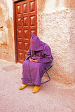 Sleeping maroccan man in the streets of Marrakech Royalty Free Stock Photos